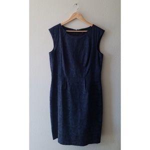 ANTONIO MELANI Dresses - Antonio Melani navy blue brocade sheath dress